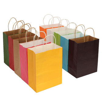 21*27 *11cm Paper Gift Packaging Bag Shopping Multicolor Wedding Party Supply