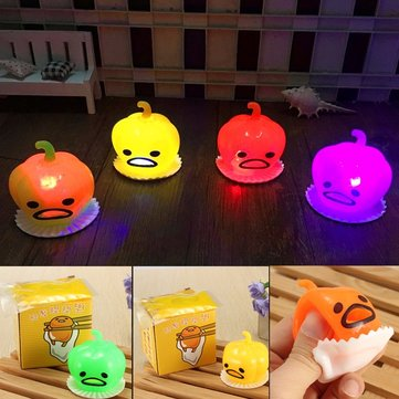 Squishy Squeeze Pumpkin Bright-up Vomitive Slime Shiny Toy Stress Reliever Fun Gift Desk Decor Gadget