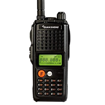 QUANSHENG TG-K10AT 100 Channels Mini Dual Band LCD Screen High Power Handheld Radio Walkie Talkie