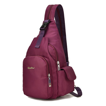 Women Nylon Multifunctional Waterproof Crossbody Bag Backpack Leisure Travel Chest Bag Baby Bag