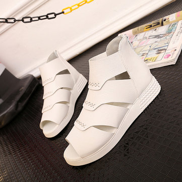 Shoes Summer Women Flats Piscine Mouth Shoes Hollow Out Fashion Soft Flats Sandals Shoes