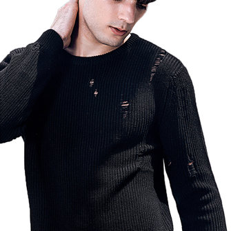 Mens Casual Stylish Holes Pullovers