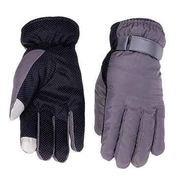 Unisex Down Driving Golves Fleece Linen Outdoor Sports Screen Touch Antiskid Cycling Mittens