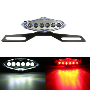 Motorcycle 10 LED Rear Tail Brake Running License Plate Light Bracket Holder