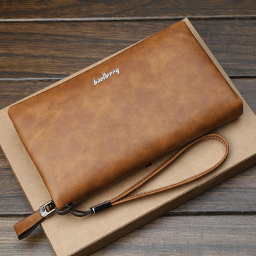Baellerry Men Multifunctional Long Business Wallet Phone Bag