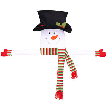 Snowman Hug Tree Non-woven Fabric Christmas Tree Topper Snowman Type Decorations