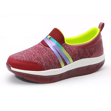 Rocker Sole Shoe Women Casual Outdoor Breathable Sport Shoes