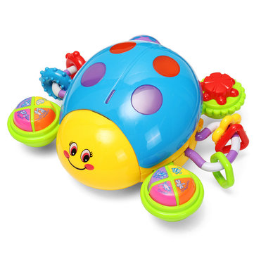 Puzzled Toys Infant Music Crawl Ladybug plaything Electric Sound Toy with Music & Light Toy