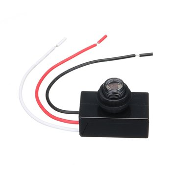 AC 80V-277V 110V 220V Mini Photoelectric Switch Photocell Dusk To Dawn Automatic Lamp Switching Sensor LED Light Control Switch Optical Control Switch Long Life Saving Energy Safe And Reliable