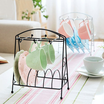Kitchen Tree Shape Wood Coffee Tea Cup Storage Holder Mug Hanging Display Rack Drinkware Shelf