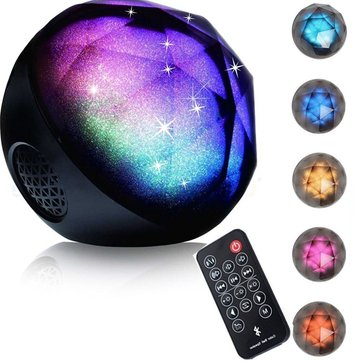 Colorful Portable Mini Ball Wireless Stereo bluetooth Speaker Remote LED Light Support TF Card