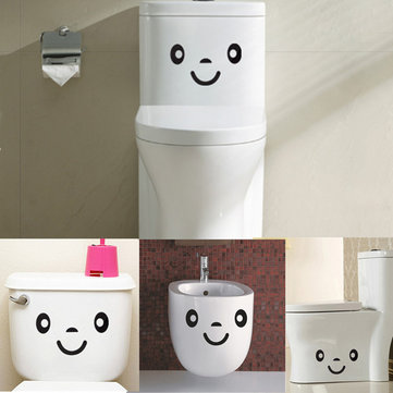 Waterproof Smiley Face Toilet Sticker Wall Decal Cartoon Closestool