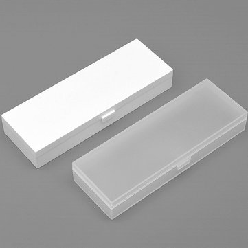 2pcs Xiaomi Stationery Pen Box 195 x 72 x 30 mm Solid Color Transparent PP Plastic Pencil Case
