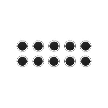 10Pcs Black Transparent 30MM Card Button Crystal Small Circular Arcade Game Push Button Switch