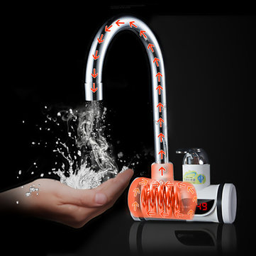 220V Digital Display Instant Heating Electric Water Heater Faucet Tap