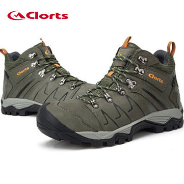 Men Climbing Shoes PU Waterproof Breathable Hiking Boots