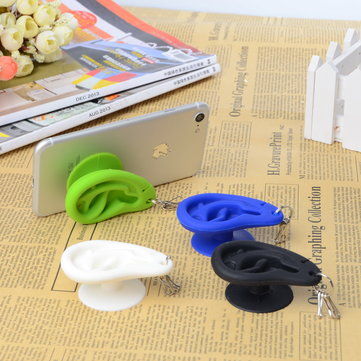Ear Creative Silicone Sucker Stand Holder Cable Organizer For Smartphone Key Chain Earphone