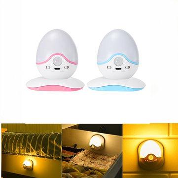 ARILUX®PIRモーションセンサーライトコントロールキャビネット寝室用充電式マグネットベースLEDナイトライト