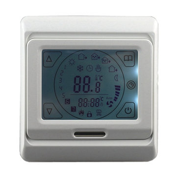 16A Touch Screen Digital LCD Floor Heating Thermostat Programmable Room Warm Temperature Controller
