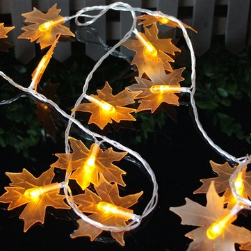 EU Plug 30LEDs Warm White Maple Leaves Fairy String Light for Christmas AC220V