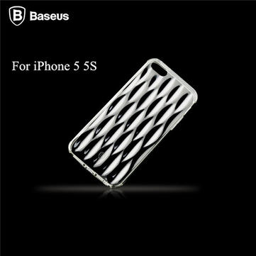 BASEUS 1mm Air Bag Soft TPU Clear Back Cover voor iPhone 5 5S