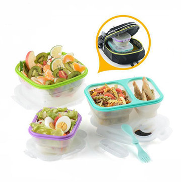 Naturehike Foldable Silicone Lunch Box Food Container Preservation Bento Case Camping Hiking