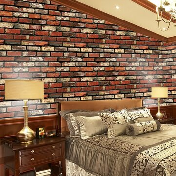 Creative Wall Stickers Simulation Waterproof Brick 3D Effect PVC Removable Background Stickers
