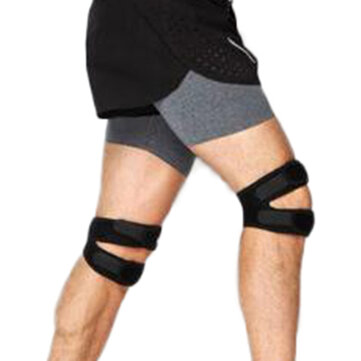 Mens Adjustable Elastic Knee Support Brace Kneepad Patella Safety Guard Strap