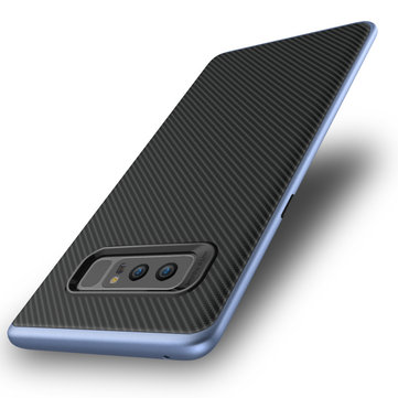 Carbon Fiber Texture Shockproof Hybrid PC TPU Case For Samsung Galaxy Note 8