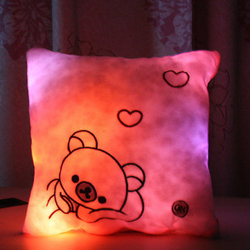 Honana Luminous Pillow Christmas Toys Led Light Plush Pillow Colorful Kids Toys Birthday Gift