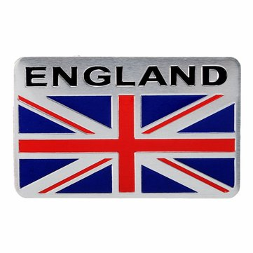 Aluminum England UK Flag Shield Emblem Badge Car Sticker Decal Universal For Truck Auto