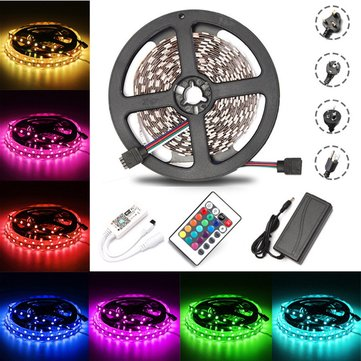 5M 60W SMD5050 Non-waterproof RGB LED Strip Light + WiFi Controller + Remote Control + Adapter DC12V