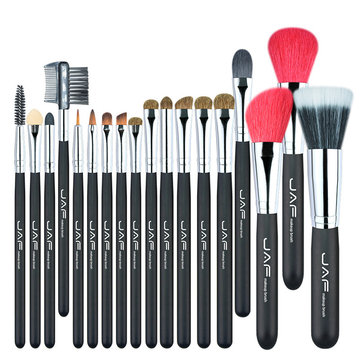 JAF 18pcs Makeup Brushes Set Goat Horse Hair Professional Cosmetic Tools kit Eye Shadow Blend