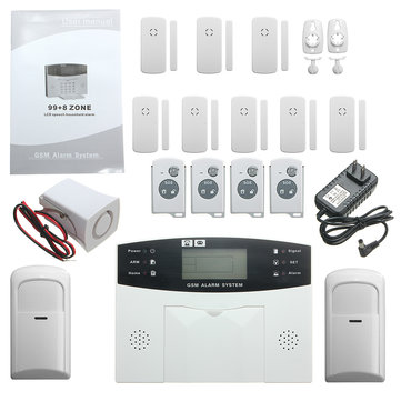 YA-500-GSM-24 LCD Wireless GSM Auto Dial SMS Home House Office Security Burglar Intruder Alarm