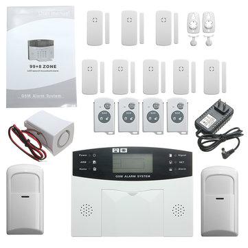YA-500-GSM-24 LCD Wireless GSM Auto Dial SMS Home House Office Security Burglar Intruder Alarm
