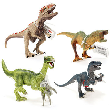 Cikoo 4Pcs/Set Jurassic World Park Plastic Dinosaur Model Toys Kids Gifts