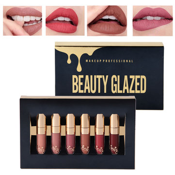 6 Mini Liquid Waterproof Lip Stick Set