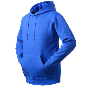 Mens Casual Cashmere Sport Hoodie Warm Fleece Sport Sweater Hoodies