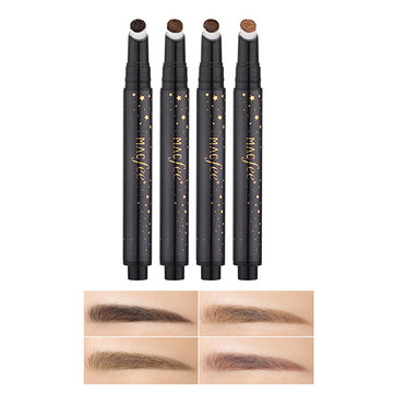 XLOONG Coffee Brown Press Cushion Eyebrow Pen Tattoo Eye Brows Tint Gel Eyebrows Enhancer Makeup