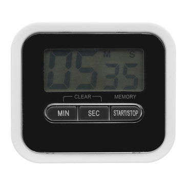 LCD Display Digital Home Cooking Timer Alarm Count UP Down Clock Alarm Countdown Timer