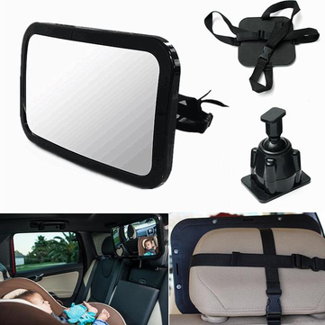 Adjustable Baby Child Wide View For Rear Facing Seat Car Safety Car Mirror Mount Sucker Mirror