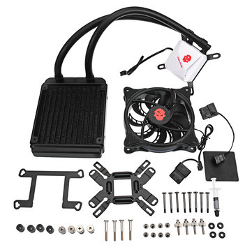 CPU Water Liquid Cooler 12CM RGB LED Cooling Fan Water Cooling System Pump Radiator For INTER AMD