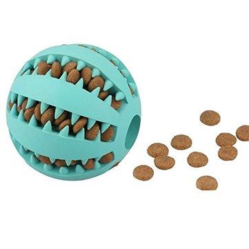 7Q Interactive IQ รักษาลูกยาง สุนัข ลูกบอลของเล่นที่ทนต่อยางนิ่ม สุนัข ลูกบอล