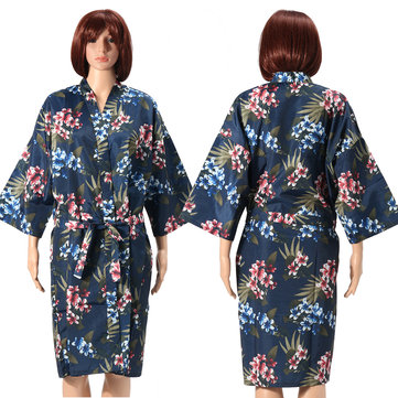 Silk Satin Kimono Robe Dressing Gown Wedding Bridesmaid SPA Sleepwear Bathrobe