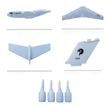 C17 C-17 Transport 373mm RC Airplane Spare Parts EPP Fuselage & Main Wing & Tail Wing Set