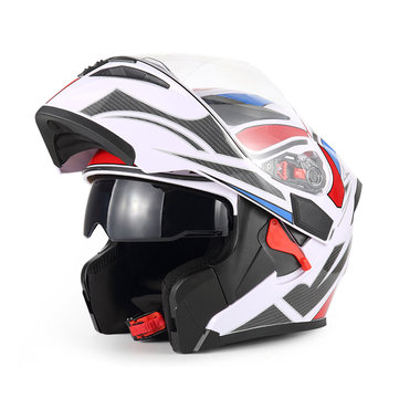 BIKIGHT Dual Visor Exposing Helmet Double Lens Open Face Safety Helmet Motocross Racing Helmets