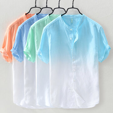 Gradient Color Summer Trendy Cotton Loose Casual T Shirts