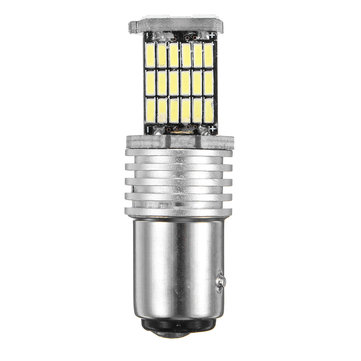 1PCS 1157 BAY15D 45SMD LED Car Brake Lights CANBUS Error Free Tail Turn Signal Bulb 15W White