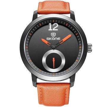 SKONE 5015 Men Women Quartz Watches Water Resistant Leather Business Leisure Wrist Watch