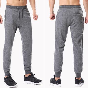 Весна Осень Спортивные мужские брюки Тонкий вязание Nosing молодежи Популярные трениках
